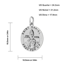 Pendant Necklace With Saint Daniel - Size Description