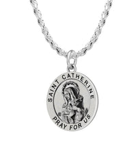 Pendant Necklace With St Catherine Image & 2.3mm Rope Chain