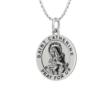 Pendant Necklace - Silver Necklace With Saint Catherine