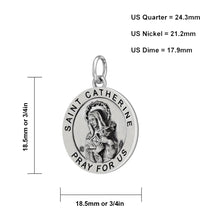 Pendant Necklace Of Silver With St Catherine - Size Details