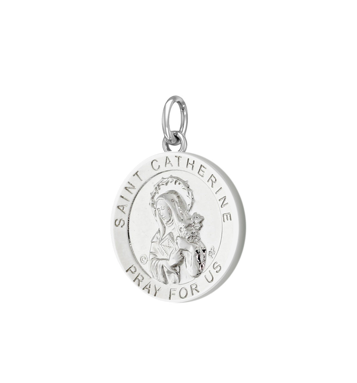 Pendant Necklace With Saint Catherine - No Chain