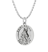 Pendant Necklace With Saint Rocco & 1.50mm Rope Chain