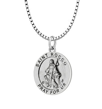 Pendant Necklace With Saint Rocco & 1.5mm Box Chain