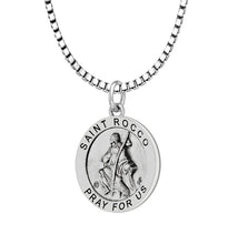 Pendant Necklace With Saint Rocco & 2.2mm Box Chain