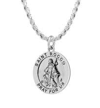 Pendant Necklace With Saint Rocco & 2.3mm Rope Chain