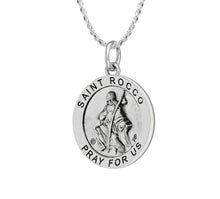 Pendant Necklace - Silver Necklace With Saint Rocco