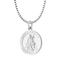 Pendant Necklace With Saint Rocco - 1.5mm Box Chain