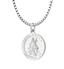 Pendant Necklace With Saint Rocco - 2.2mm Box Chain