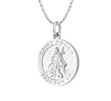 Pendant Necklace - Medal Necklace With Saint Rocco