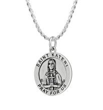 Pendant Necklace With St Kateri Photo & Rope Chain
