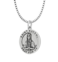 Pendant Necklace With St Kateri Photo - Box Chain