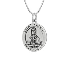 Pendant Necklace - Medal Necklace With St Kateri Photo