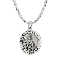 Pendant Necklace With St Valentine & 2.3mm Rope Chain