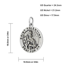 Pendant Necklace With St Valentine - Size Description