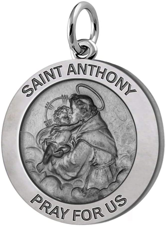 Saint Anthony Necklace With Silver Pendant - No Chain
