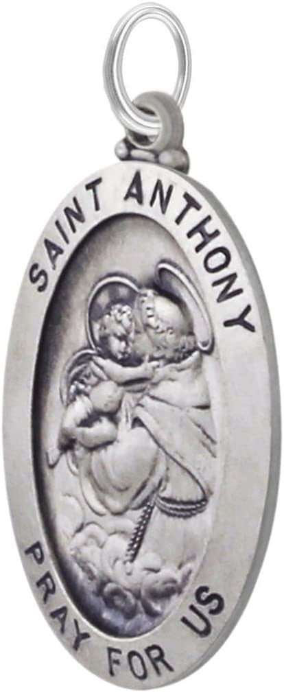 Saint Anthony Necklace In Oval - Pendant