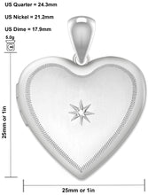 Diamond Necklace In Heart Shape With 2 Photo - Size Details