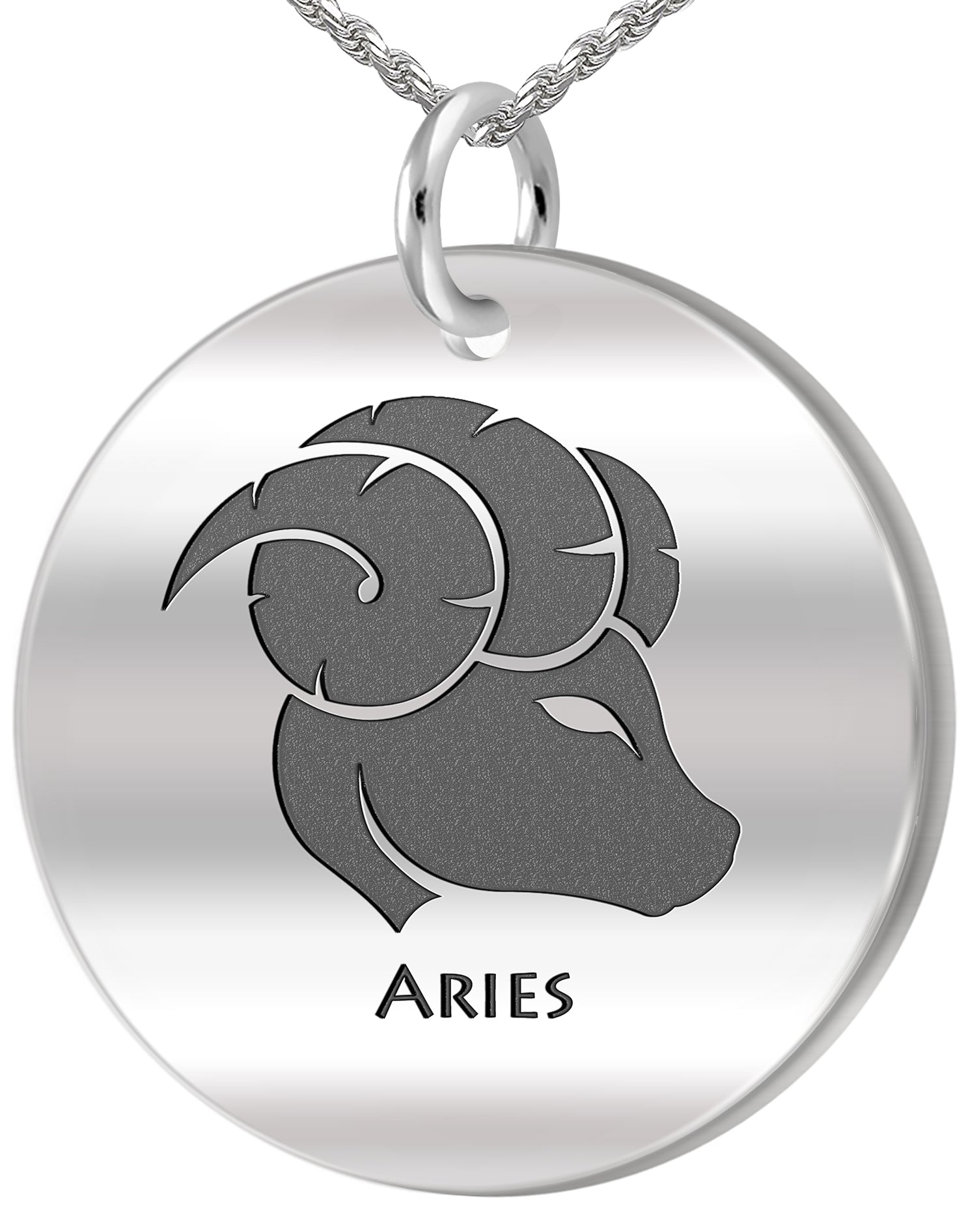 Aries Necklace - Zodiac Pendant Necklace In Round