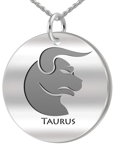 Taurus Necklace - Zodiac Pendant Necklace Of April & May
