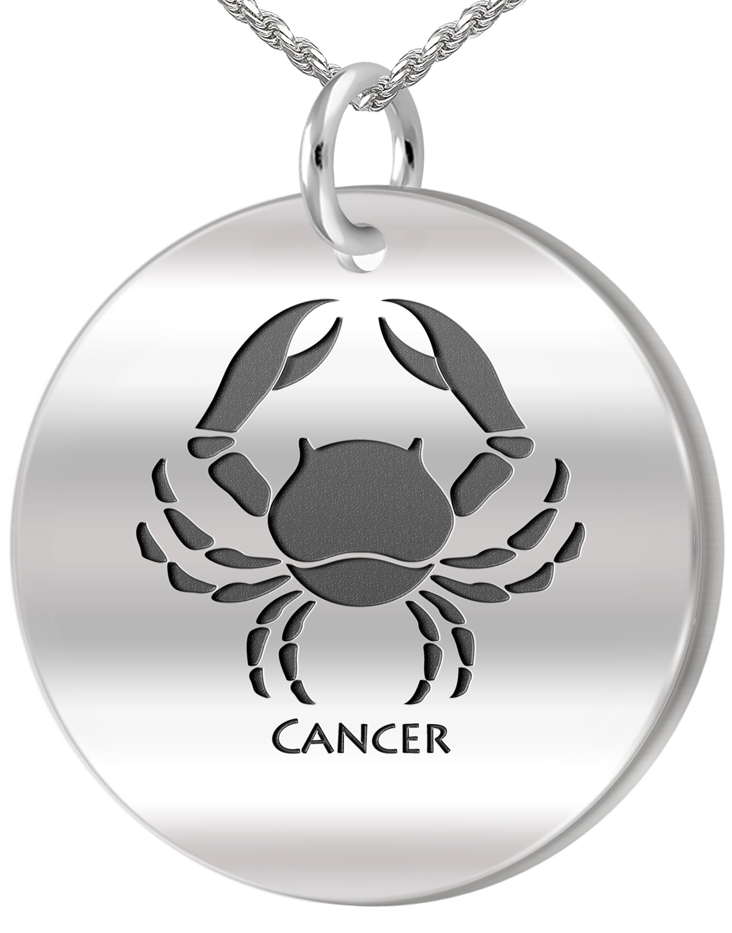 Zodiac Pendant Necklace - Cancer Crab Necklace In Silver