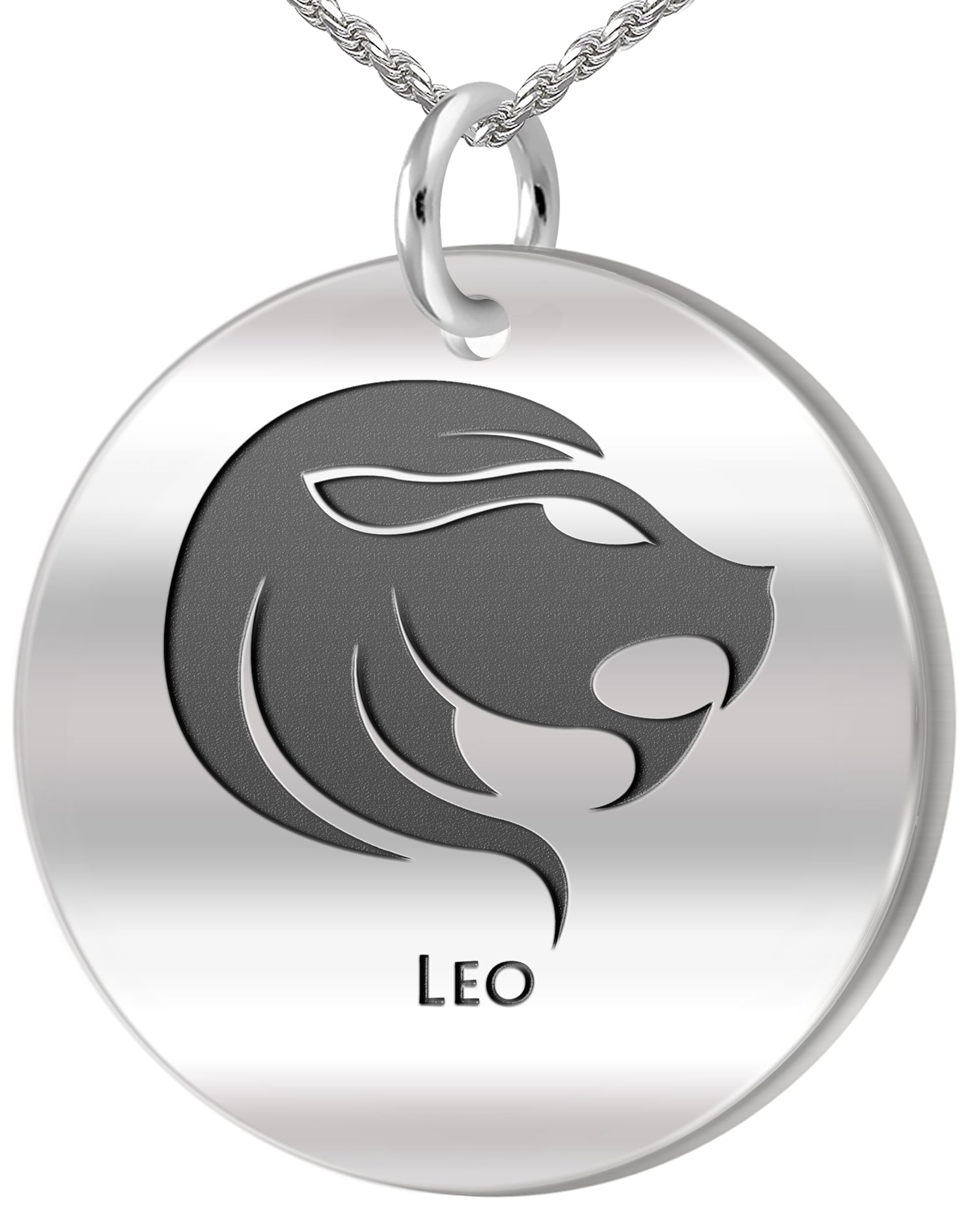 Leo Necklace - Zodiac Pendant Necklace In 0.925 Silver
