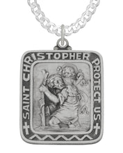 Saint Christopher Necklace With Curb Chain
