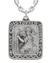 Saint Christopher Necklace In Rectangle Shape - Marine Chain