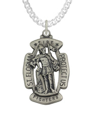 St Florian Necklace Made For Men - Curb Chain