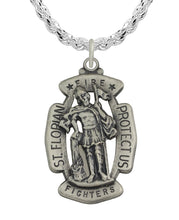 St Florian Necklace With Rope Chain For Men