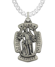 St Florian Necklace With Curb Chain For Men