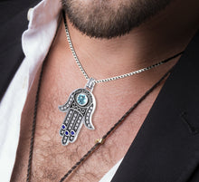 Hamsa Pendant With Amulet Protection Necklace - Men