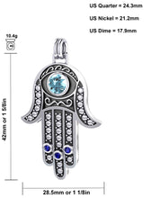 Hamsa Pendant With Amulet Protection Necklace - Size Details