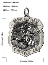 Saint Michael Pendant With Antique Finish - Size Details