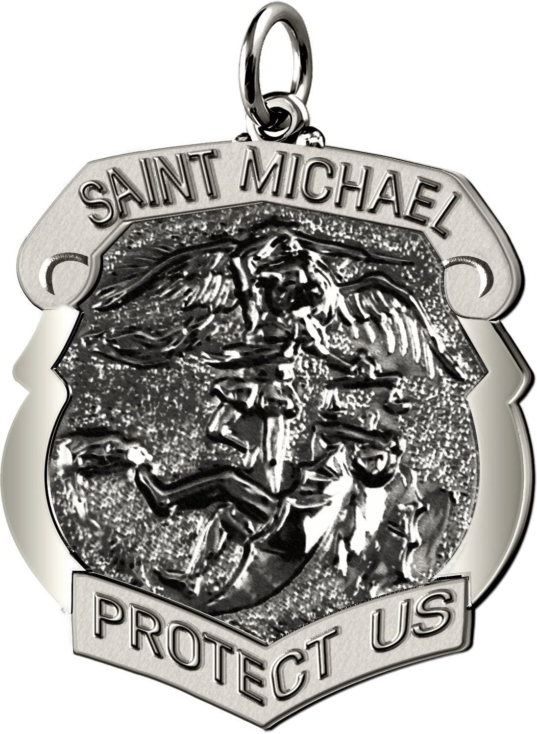 Saint Michael Pendant With Antique Finish - No Chain