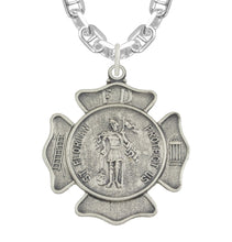 St Florian Necklace With Badge Medal Pendant - Marine Chain