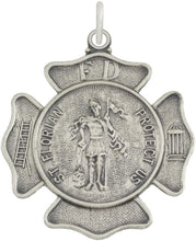St Florian Necklace With Badge Medal Pendant