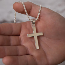 Christian Cross Necklace Of Silver - On Hand