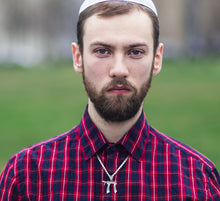 Jewish Chai Necklace Of Silver For Men - Worn On Neck