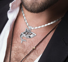 Shark Necklace With Window To Universe - Men