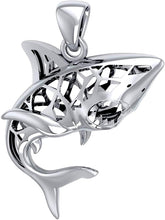Shark Necklace With Window To Universe - Pendant Only