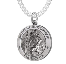 St Christopher Necklace Made For Men - Curb Chain