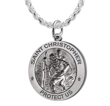St Christopher Necklace Made For Men - Rope Chain