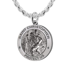St Christopher Necklace With Rope Chain For Men