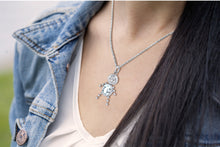 Child Necklace With Birthstone In Silver - Worn On Neck