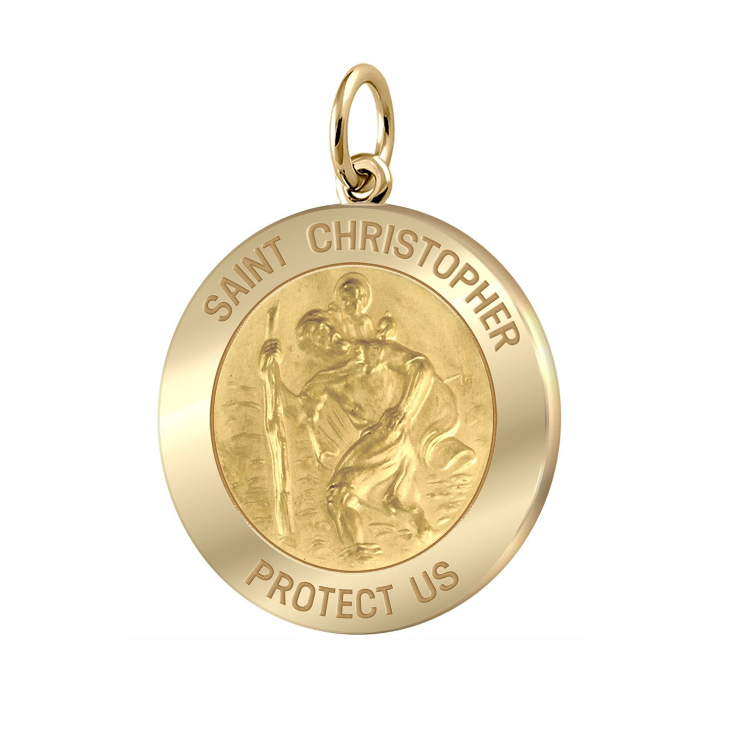 Saint Christopher Necklace Of Gold - Pendant Only