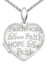 Faith Hope Love Necklace - Heart Necklace With 2 Photo