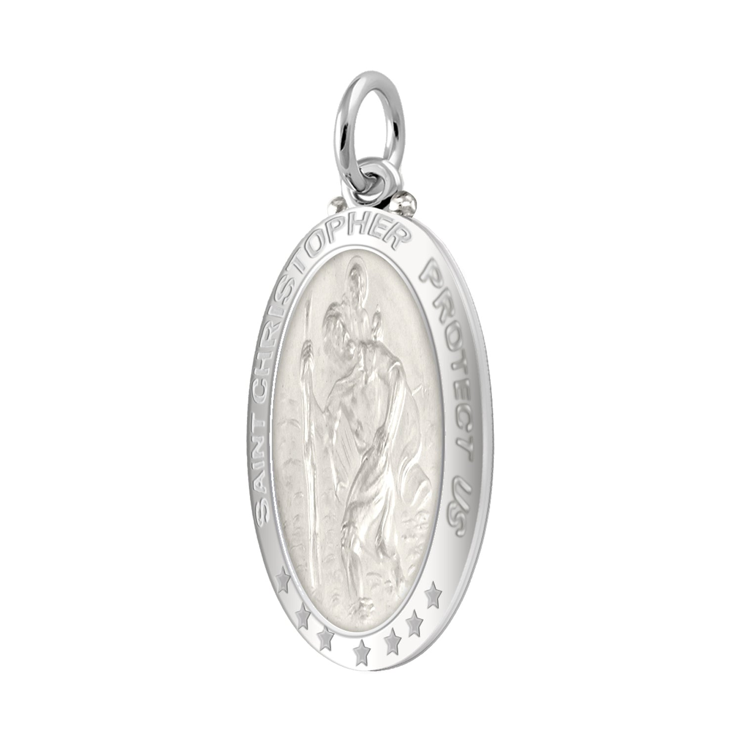 St Christopher Necklace In 925 Purity - Pendant Only