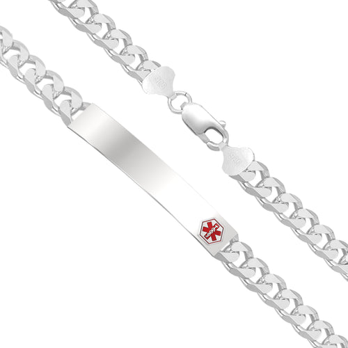 Charm Bracelet - Medical Alert Bracelet With Curb Chain