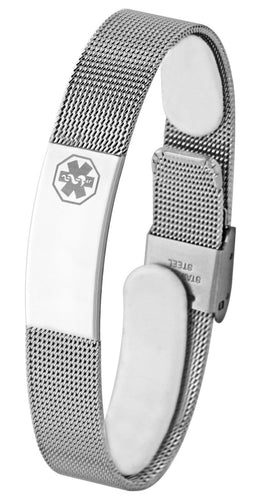 Medical Alert Bracelet - Mesh Bracelet ID For Sale