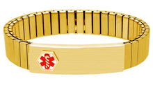 Medical Alert Bracelet - Expandable Bracelet ID In Gold
